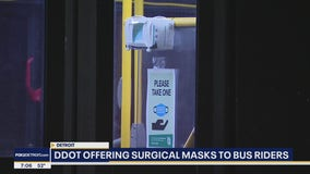 Detroit offering 20,000 face masks to DDOT passengers with rear door dispensers