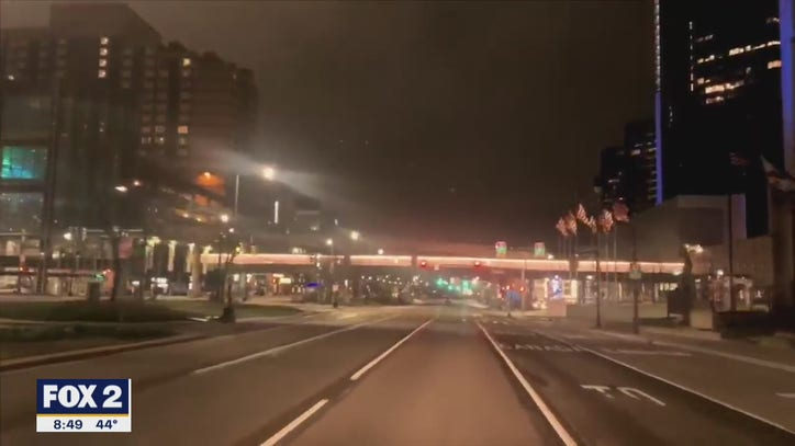 """""""Eerie and beautiful,"""" video shows the quiet streets of Detroit as city practices social distancing"""