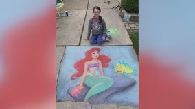 Talented Southgate teen's chalk art lights up sidewalk, brings cheer
