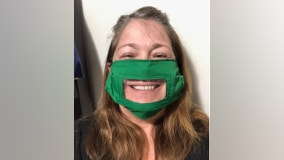 Audiologist makes clear mask so hearing loss patients can still read her lips and see her smiles