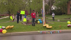 Neighbors and family celebrate Southfield Boy's 12th birthday with car parade