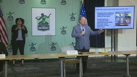 Mayor Duggan speaks on businesses reopening in Detroit