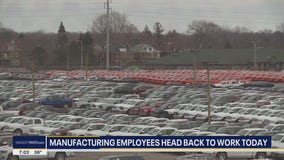 Michigan manufacturers reopen with auto suppliers restarting Monday
