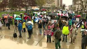 Protesters converge on Lansing for third demonstration over governor's stay home orders