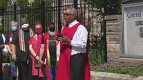 Religious leaders read scripture outside in Detroit after Trump photo op with bible