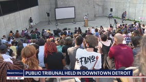 Public Tribunal held in Downtown Detroit, protesters say they experienced police brutality