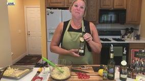 Summer Orzo Salad using Fustini's oils and vinegars