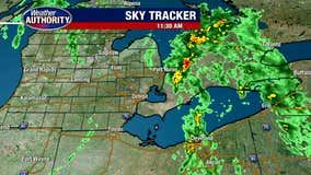 Tuesday morning rain is ending, wind is picking up a bit.