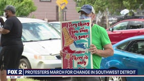Protesters march for change in Southwest Detroit