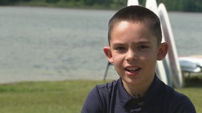 Nine-year-old boy saves girl struggling in Oakland County lake