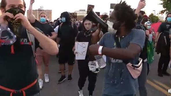 Detroit demonstrators against police brutality allowed past curfew by DPD for peaceful protest