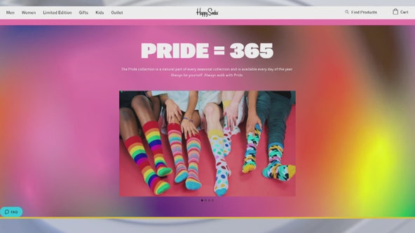 The Phluid project teams up with Happy Socks in celebration of Pride Month