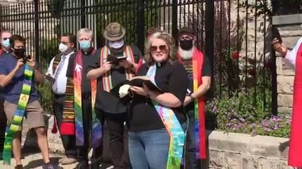 Detroit religious leaders read scripture at demonstration in response to Trump's bible photo