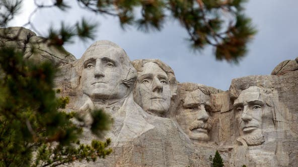 Native Americans protesting Trump trip to Mount Rushmore