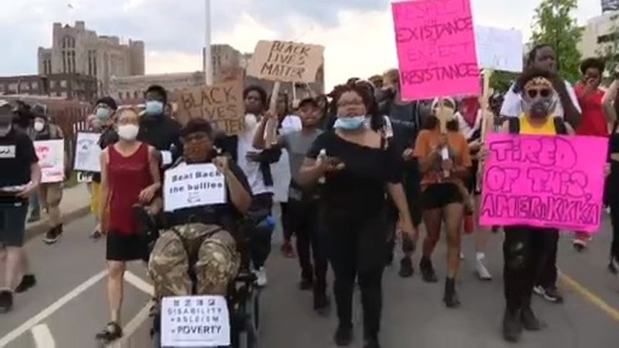 Protest group offers list for police and criminal justice reform at Detroit demonstration