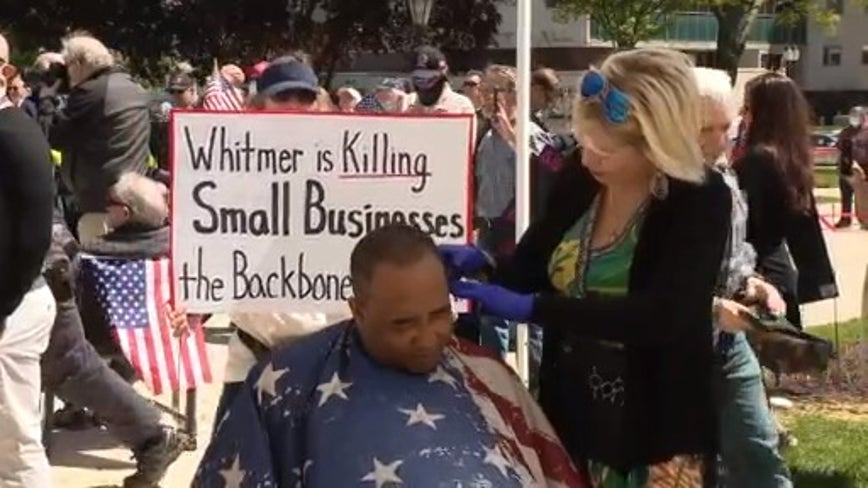 Salon, barbershop owners still waiting; want apology from Whitmer for suggesting to Google how to cut hair