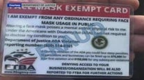 Beware of exemption from facemasks card being sold by scammers