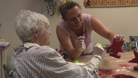 Dementia patients paint projects for others at Quality of Life Center
