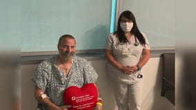 Man having heart attack saved by nurse who happened to be driving by