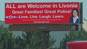 GOP candidate fires back at Livonia billboard alleging racial profiling with her own message