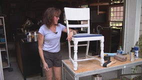 Jill of All Trades refurbishes chairs that were thrown to the curb