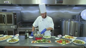 Making orange and fennel salad with Andiamo