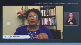 Stacey Abrams moderates Biden for President roundtable with Michiganders