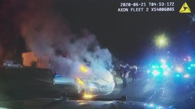 Video shows Westland police save man from smoking car after doing donuts in middle of Ford Rd