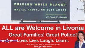 GOP candidate running for Livonia state rep rebukes 'racial profiling' billboard with her own message