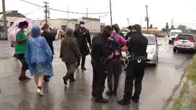 Detroit Police make 11 arrests in front of school bus terminal on 4th day of protests