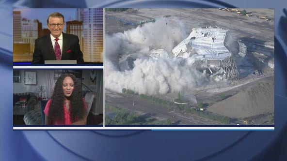 The Palace of Auburn Hills is officially no more after the remains of the building was imploded Saturday morning