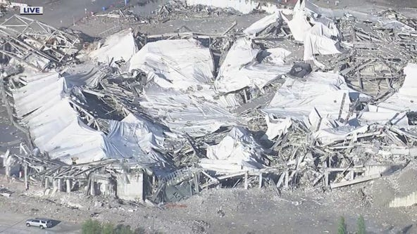 The Palace of Auburn Hills is officially no more after the remains of the building were imploded