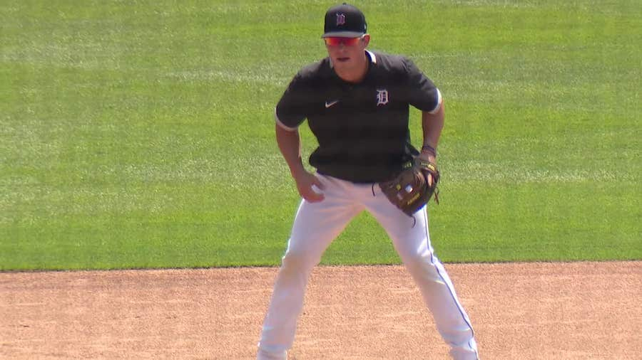WATCH - The Tigers first scrimmage game had quite an impressive moment