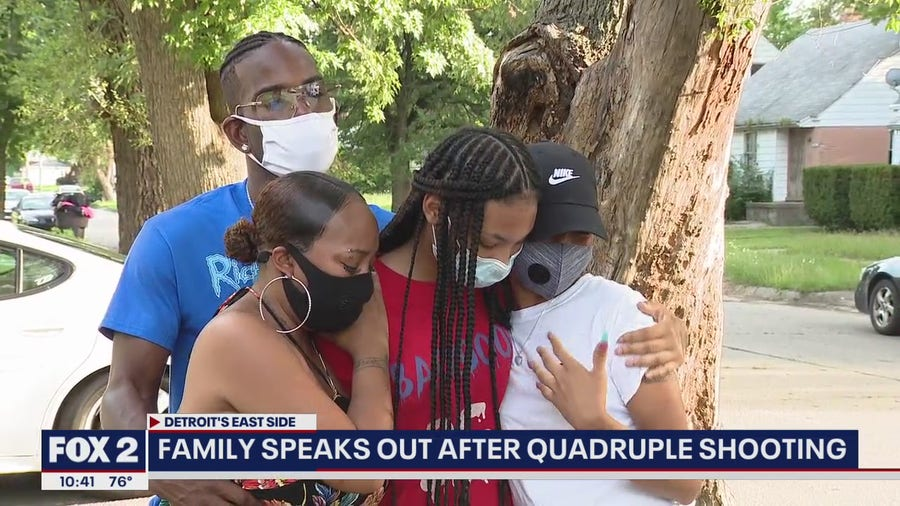 Family speaks out after quadruple shooting in Detroit
