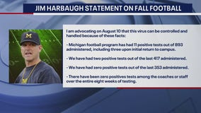 Jim Harbaugh issues statement amid reports Big Ten football season voted to be canceled