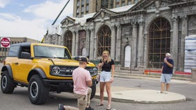New Ford Bronco assists in a Motor City marriage proposal