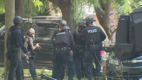 Police searching for two men after shooting, barricaded gunman situation on Detroit's east side