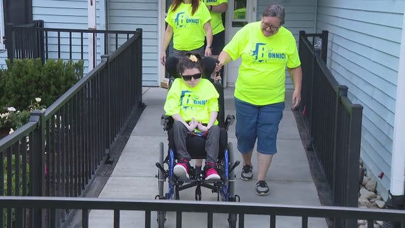 Contractor team build new wheelchair ramp and driveway for family preyed on by concrete creeps