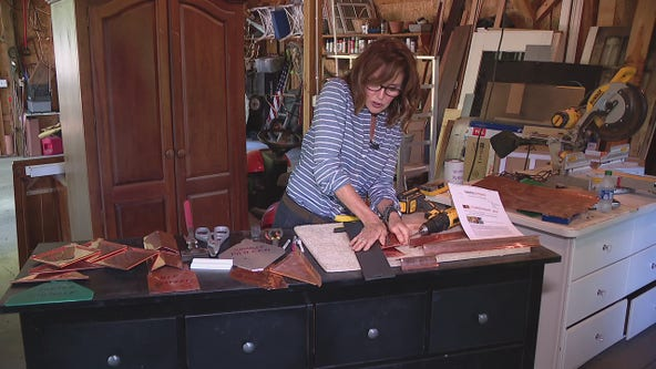 Making copper shingles with Jill of All Trades