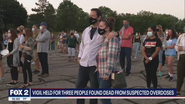 Vigil held for 3 young adults who died of suspected overdoses