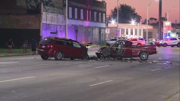 Woman killed in crash near car club meet up on Detroit's west side