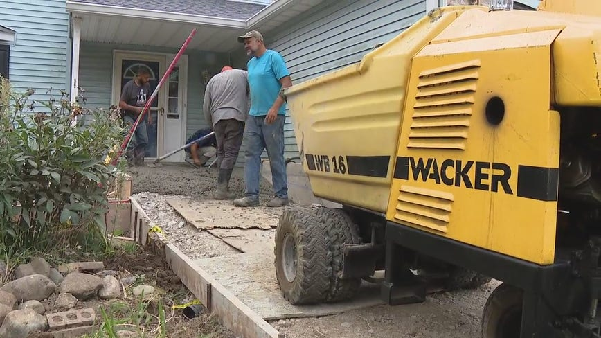 Family ripped off by concrete creeps get happy ending from generous business