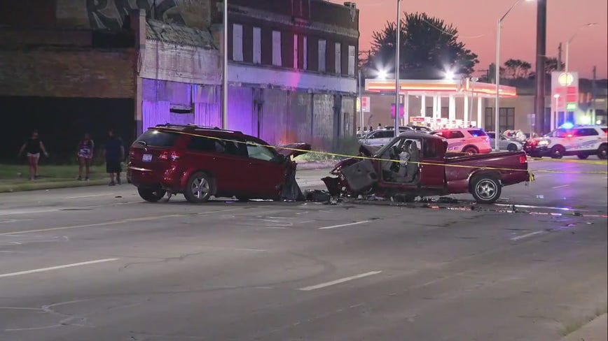 Woman killed in crash near car club meet up on Detroit's west side
