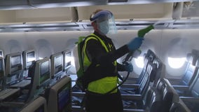 Delta workers showcase its CareStandard of cleaning and sanitizing planes