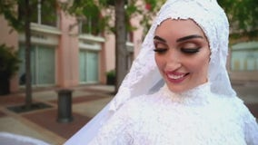 Troy doctor who survived Beirut blast in wedding dress returns home, awaits husband