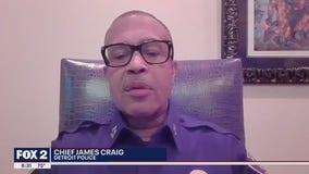 Detroit Police Chief James Craig speaks on resigning