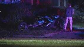 Woman dies after crashing Slingshot vehicle into tree on Detroit's west side