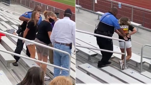 Argument over mask leads to woman's arrest, use of stun gun at Ohio football game