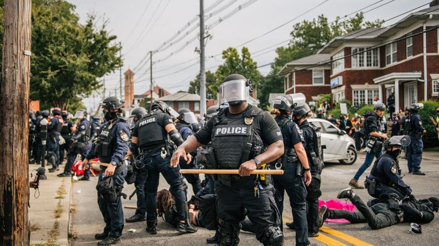 Louisville police officer shot during protests over lack of charges in Breonna Taylor death
