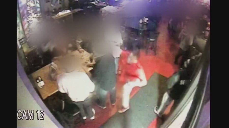 Video still of the alleged fatal punch that killed Shawn Kubic.
